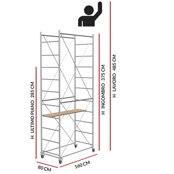 Trabattello FAST (Altezza lavoro 4,85 metri)
