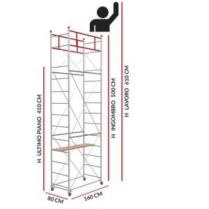 Trabattello FAST (Altezza lavoro 6,10 metri)