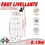 Trabattello FAST livellante (Altezza lavoro 6,10 metri)