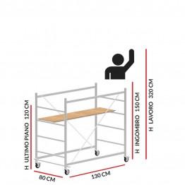 Trabattello JOLLY 130 (Altezza lavoro 3,20 metri)