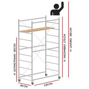 Trabattello JOLLY 130 (Altezza lavoro 3,80 metri)