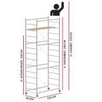 Trabattello JOLLY 130 (Altezza lavoro 5,10 metri)