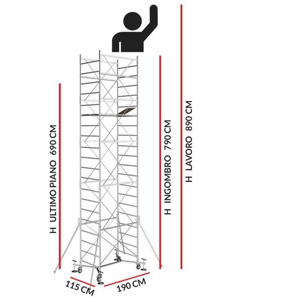 Trabattello M5 EASY (Altezza lavoro 8,90 metri)