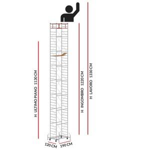 Trabattello M5 LUX (Altezza lavoro 11,80 metri)