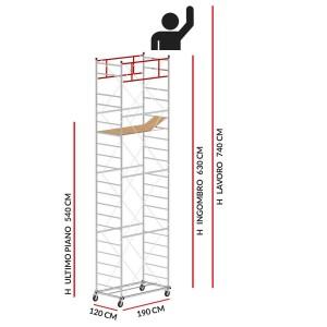 Trabattello M5 LUX (Altezza lavoro 7,40 metri)