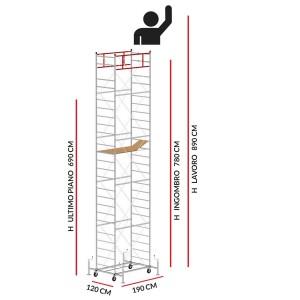 Trabattello M5 LUX (Altezza lavoro 8,90 metri)