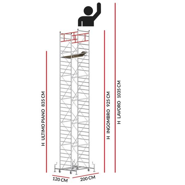 Trabattello M5 ITALY (Altezza lavoro 10,35 metri)