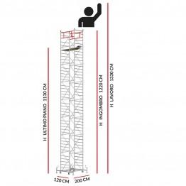 Trabattello M5 ITALY (Altezza lavoro 13,30 metri)