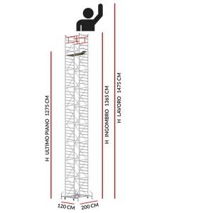 Trabattello M5 SUPERLUX (Altezza lavoro 14,75 metri)