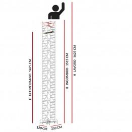 Trabattello M5 ITALY (Altezza lavoro 16,25 metri)