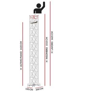 Trabattello M5 SUPERLUX (Altezza lavoro 16,25 metri)