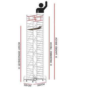 Trabattello M5 SUPERLUX (Altezza lavoro 8,90 metri)