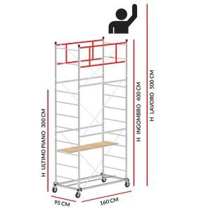 Trabattello SCEDILUX (Altezza lavoro 5 metri)