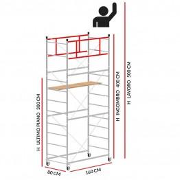Trabattello TERNO-1 (Altezza lavoro 5 metri)