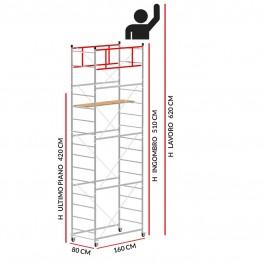 Trabattello TERNO-1 (Altezza lavoro 6,20 metri)