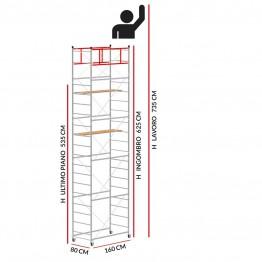 Trabattello TERNO-1 (Altezza lavoro 7,35 metri)