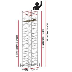 Trabattello TITANIUM PRO (Altezza lavoro 10,90 metri)