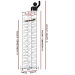 Trabattello TITANIUM PRO (Altezza lavoro 12,10 metri)