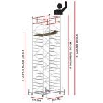 Trabattello TITANIUM PRO (Altezza lavoro 8,55 metri)