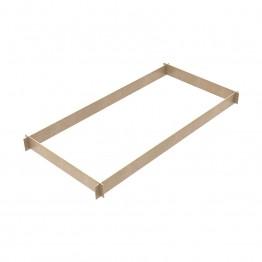 Fermapiede in legno 4 lati (per linea M4 LUX e mod. semiprofessionali)
